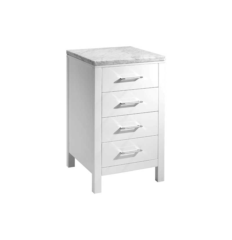 Virtu USA Caroline Parkway 20 Transitional Side Cabinet in White 3