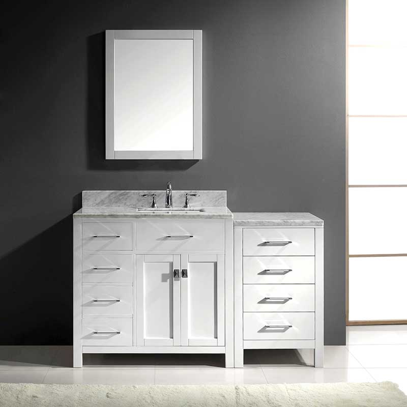 Virtu USA Caroline Parkway 36 Single Bathroom Vanity Set in White