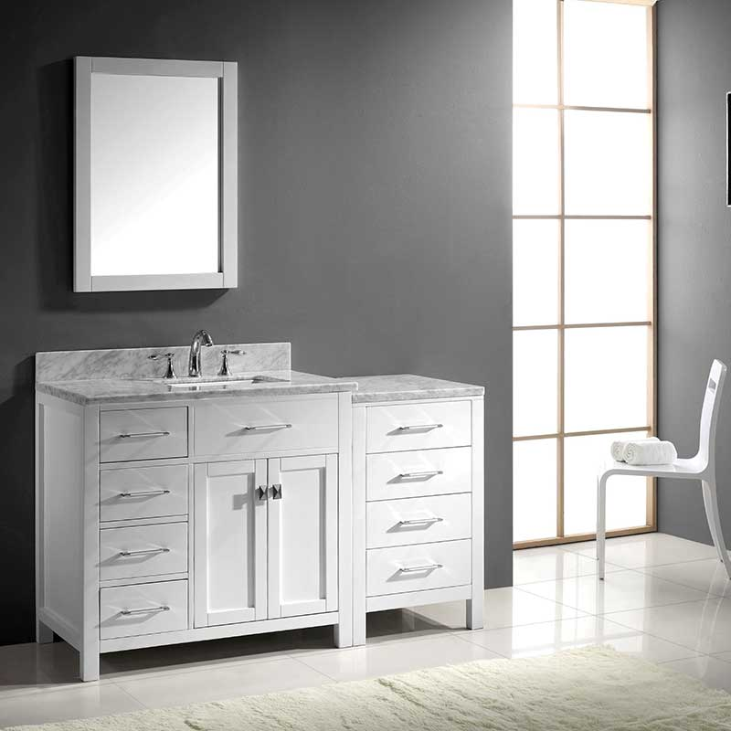 Virtu USA Caroline Parkway 36 Single Bathroom Vanity Set in White 2
