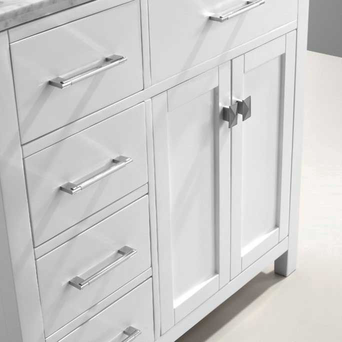 Virtu USA Caroline Parkway 36 Single Bathroom Vanity Set in White 5