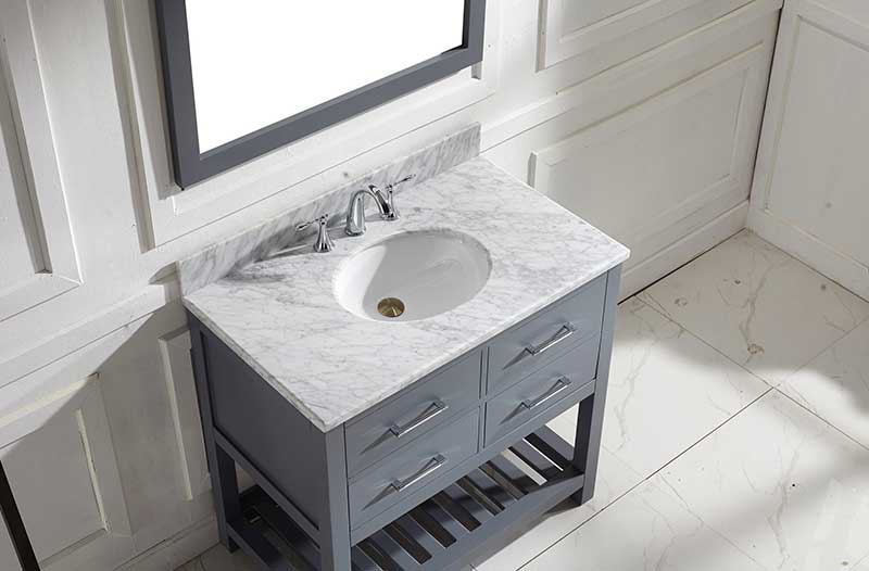 Virtu USA Caroline Estate 36 Single Bathroom Vanity Set in Grey 3