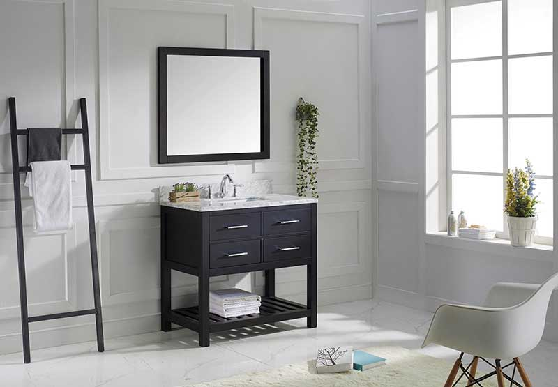 Virtu USA Caroline Estate 36 Single Bathroom Vanity Set in Espresso 2