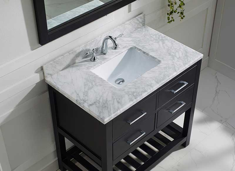 Virtu USA Caroline Estate 36 Single Bathroom Vanity Set in Espresso 3