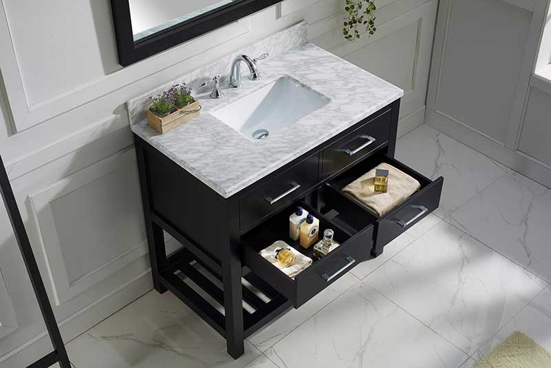 Virtu USA Caroline Estate 36 Single Bathroom Vanity Set in Espresso 4