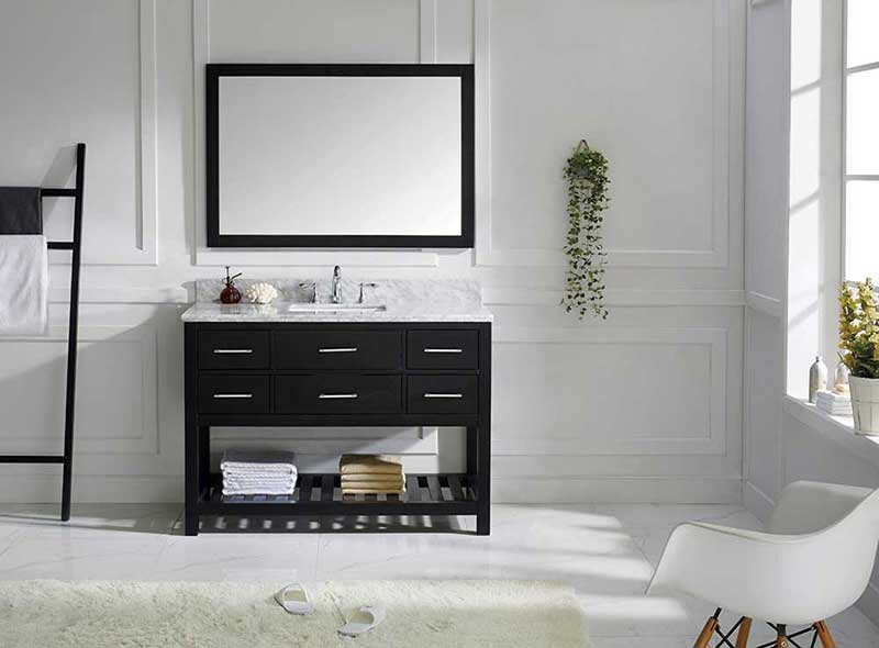 "Virtu USA Caroline Estate 48"" Single Bathroom Vanity Cabinet Set in Espresso"