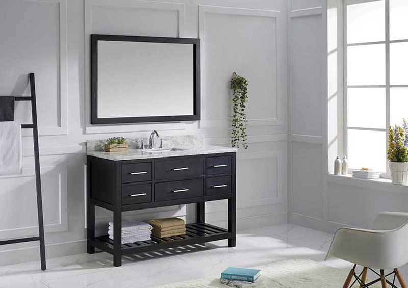 "Virtu USA Caroline Estate 48"" Single Bathroom Vanity Cabinet Set in Espresso 2"