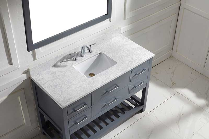 Virtu USA Caroline Estate 48 Single Bathroom Vanity Set in Grey 3
