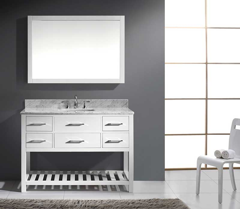 Virtu USA Caroline Estate 48 Single Bathroom Vanity Set in White 5