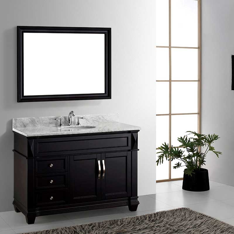 Virtu USA Victoria 48 Single Bathroom Vanity Set in Espresso
