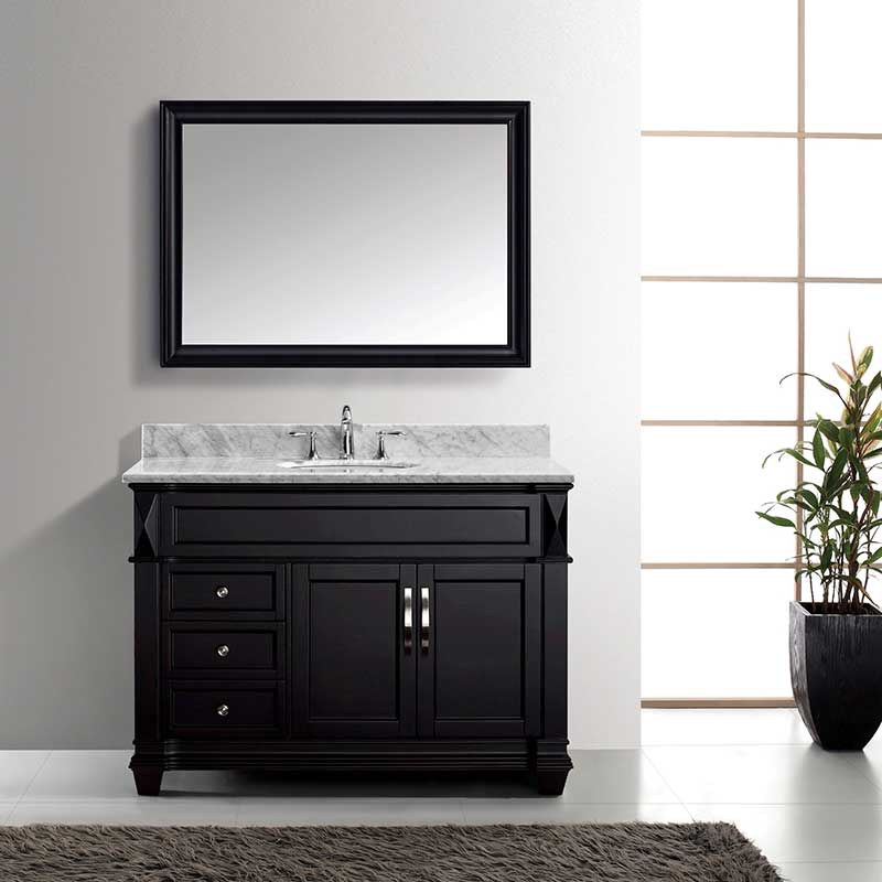 Virtu USA Victoria 48 Single Bathroom Vanity Set in Espresso 2