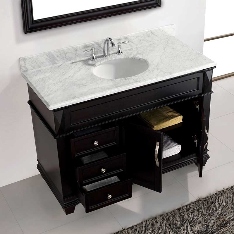 Virtu USA Victoria 48 Single Bathroom Vanity Set in Espresso 4