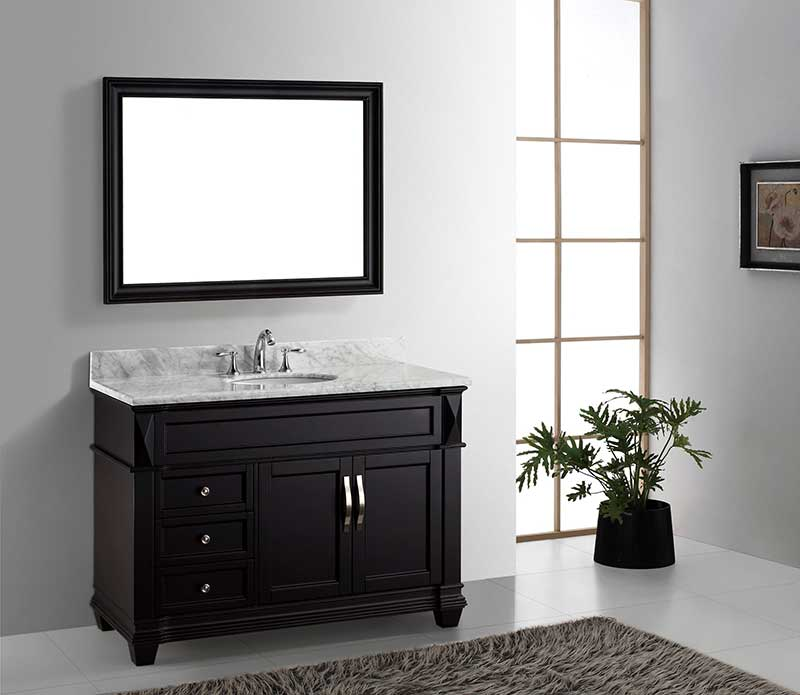 Virtu USA Victoria 48 Single Bathroom Vanity Set in Espresso 5