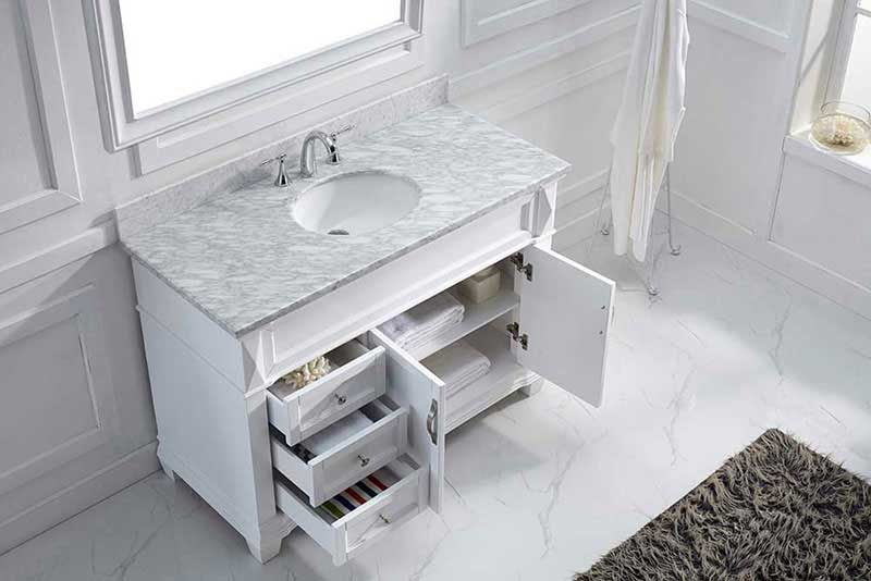 "Virtu USA Victoria 48"" Single Bathroom Vanity Cabinet Set in Grey"