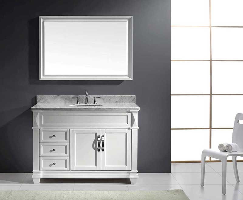 "Virtu USA Victoria 48"" Single Bathroom Vanity Cabinet Set in Grey 2"