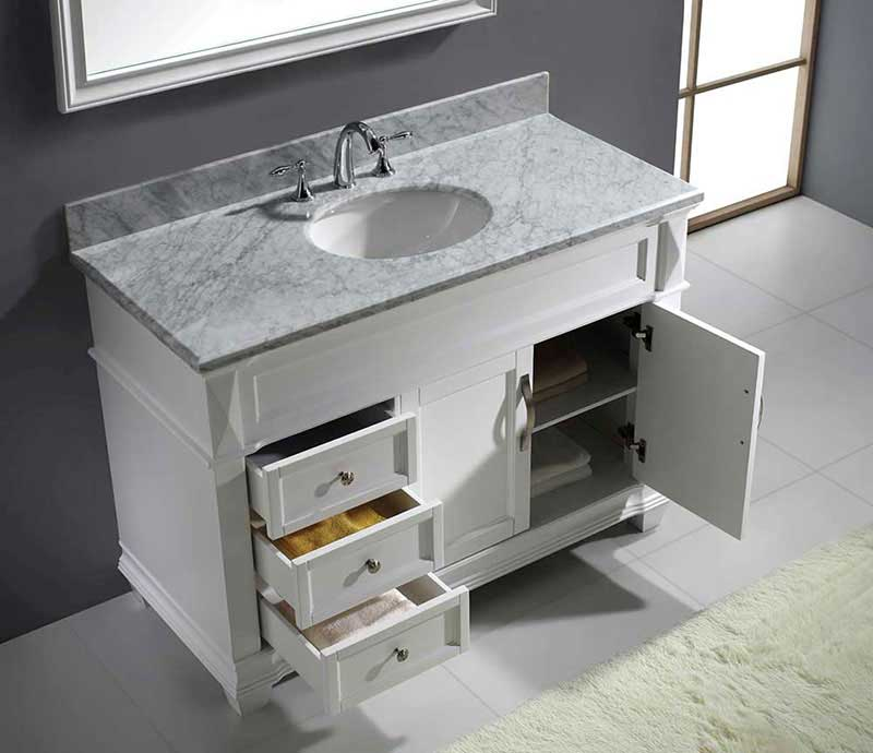 "Virtu USA Victoria 48"" Single Bathroom Vanity Cabinet Set in Grey 5"