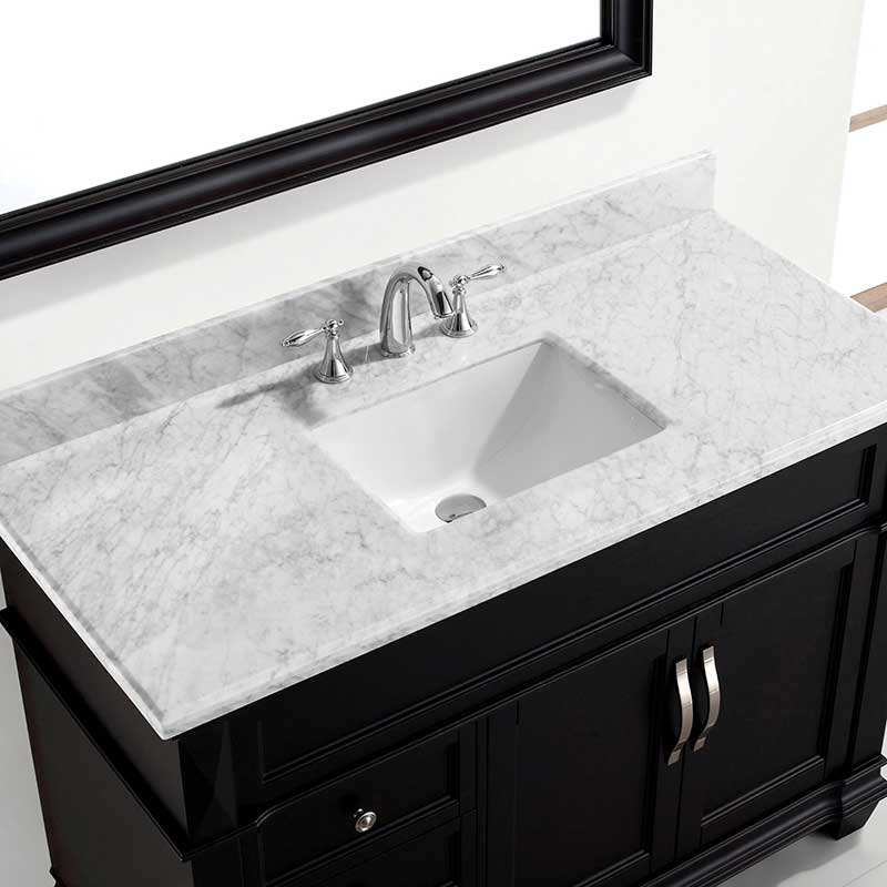 Virtu USA Victoria 48 Single Bathroom Vanity Set in Espresso 3