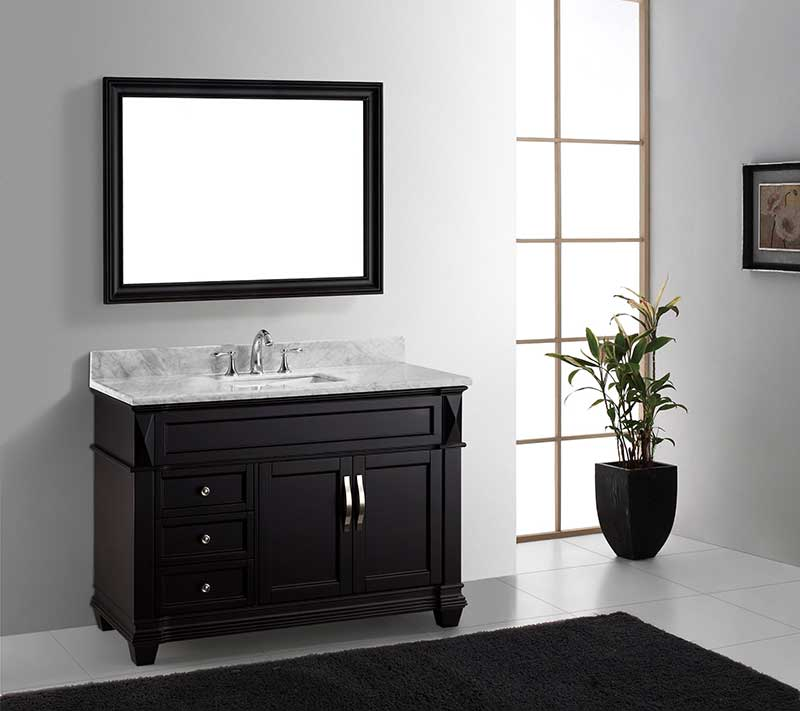 Virtu USA Victoria 48 Single Bathroom Vanity Set in Espresso 6