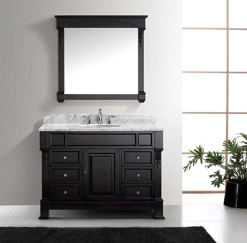 "Virtu USA Huntshire Manor 48"" Single Bathroom Vanity Cabinet Set in Grey 2"