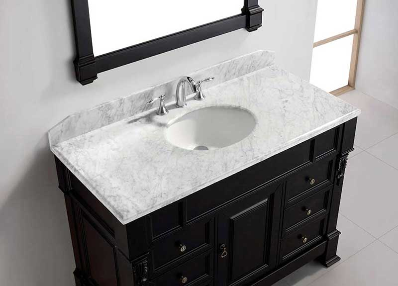 "Virtu USA Huntshire Manor 48"" Single Bathroom Vanity Cabinet Set in Grey 3"