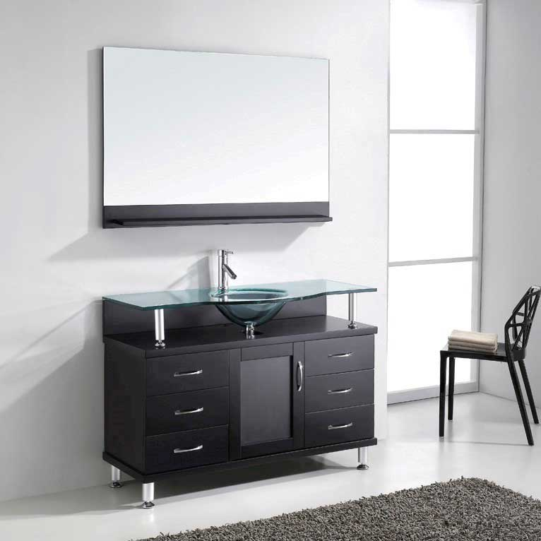 Virtu USA Vincente 48 Single Bathroom Vanity in Espresso