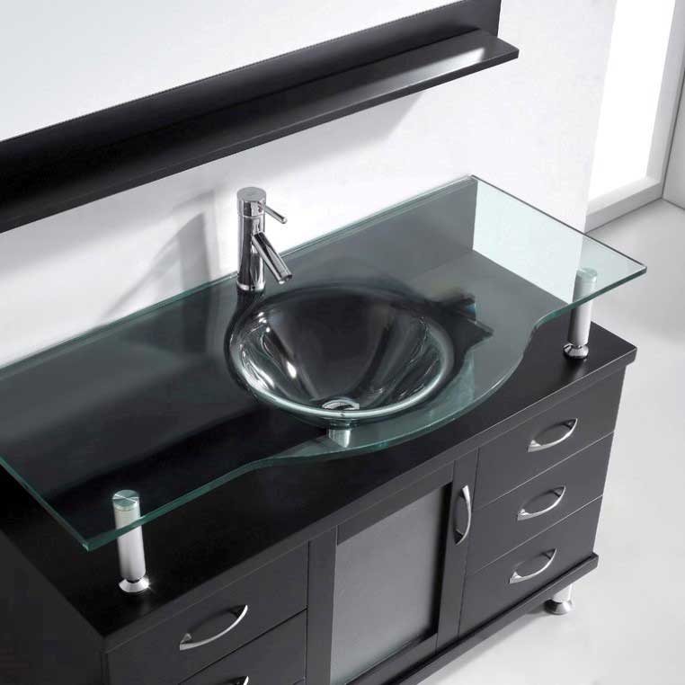 Virtu USA Vincente 48 Single Bathroom Vanity in Espresso 4