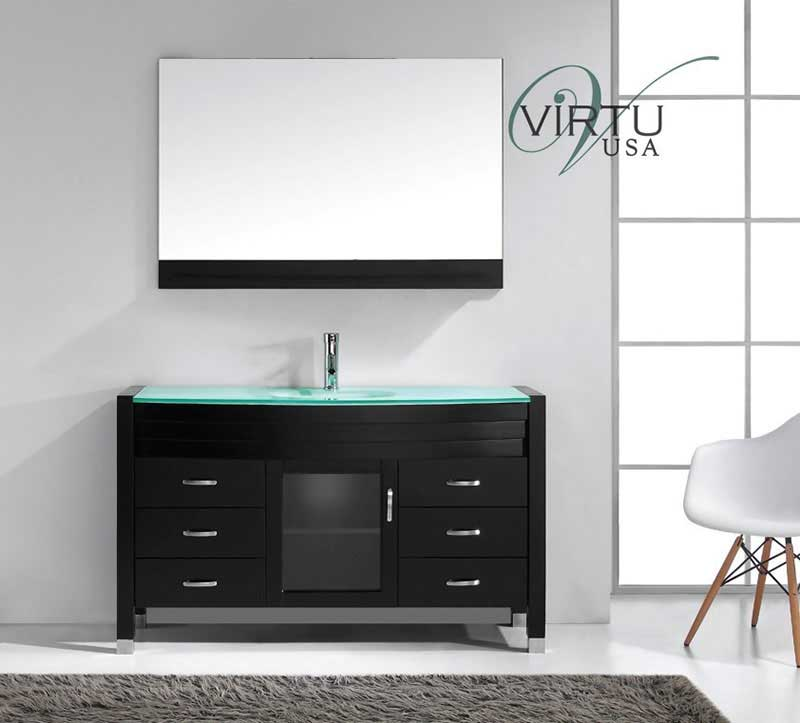 Virtu USA Ava 55 Single Bathroom Vanity Set in Espresso