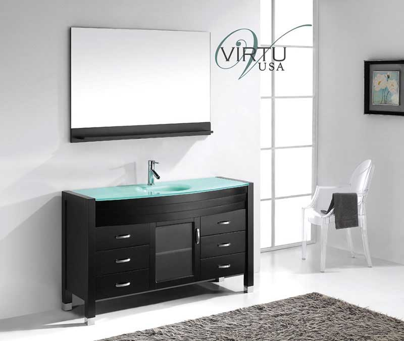 Virtu USA Ava 55 Single Bathroom Vanity Set in Espresso 2