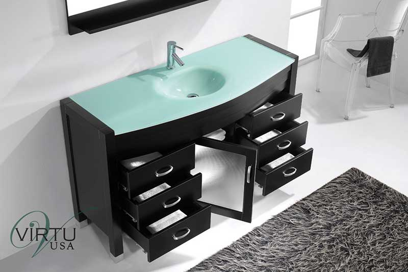 Virtu USA Ava 55 Single Bathroom Vanity Set in Espresso 3