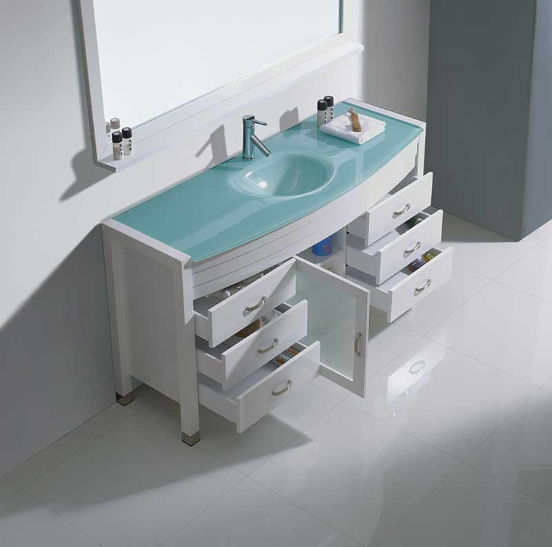 Virtu USA Ava 61 Single Bathroom Vanity Set in White 6