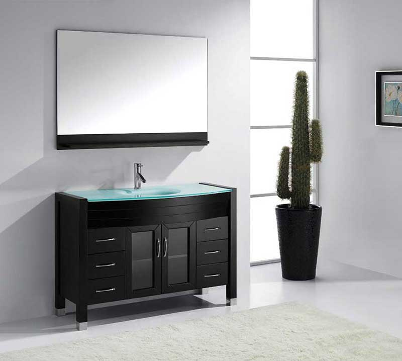 "Virtu USA Ava 48"" Single Bathroom Vanity Cabinet Set in Espresso 2"