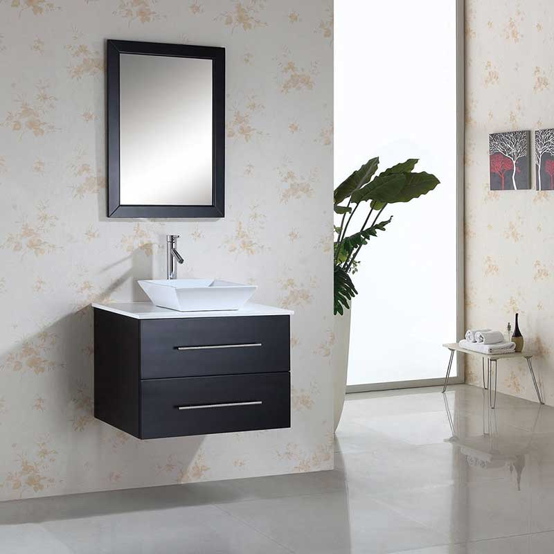 Virtu USA Marsala 29 Single Bathroom Vanity Set in Espresso