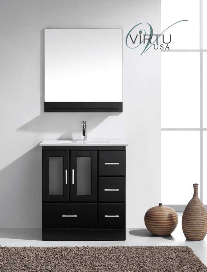 Virtu USA Zola 30 Single Bathroom Vanity Set in Espresso