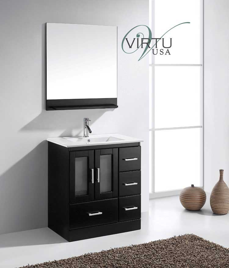 Virtu USA Zola 30 Single Bathroom Vanity Set in Espresso 2