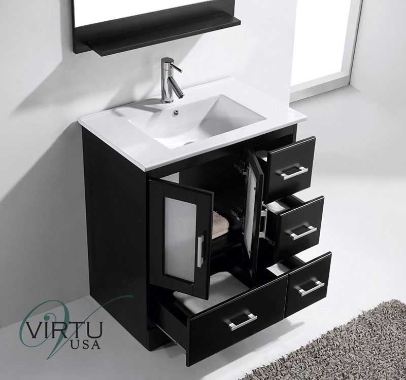 Virtu USA Zola 30 Single Bathroom Vanity Set in Espresso 3