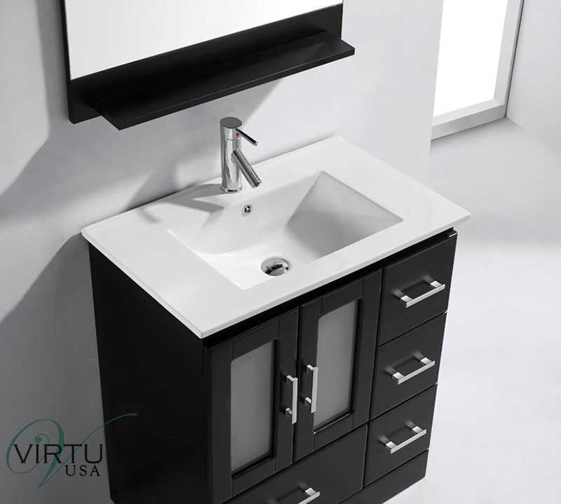Virtu USA Zola 30 Single Bathroom Vanity Set in Espresso 4