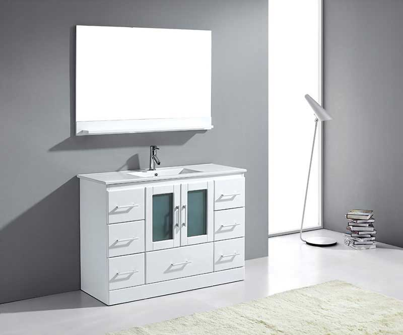 Virtu USA Zola 48 Single Bathroom Vanity Cabinet Set in White 2