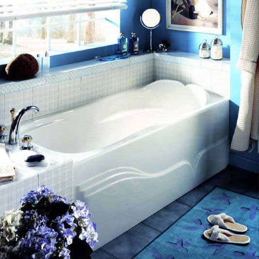 "Neptune Daphne Mass-Air Tub - With Integrated Skirt - 59-3/4"" L x 31-5/8"" W x 19-1/4"" H - DA60M"