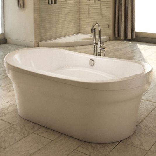 "Neptune Revelation 3672F Freestanding Activ-Air Tub - 71-7/8"" L x 35-3/4"" W x 16-1/4"" D x 24"" H - REV3672FA"