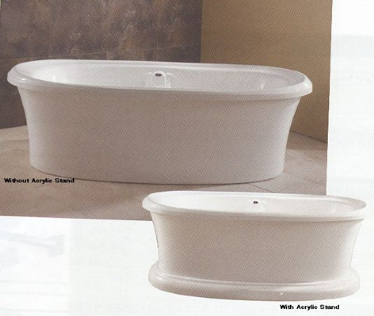 "Neptune Zircon Freestanding Mass-air Tub - 71-1/2"" L x 37-7/8"" W x 22-5/8"" H - ZI72M 2"
