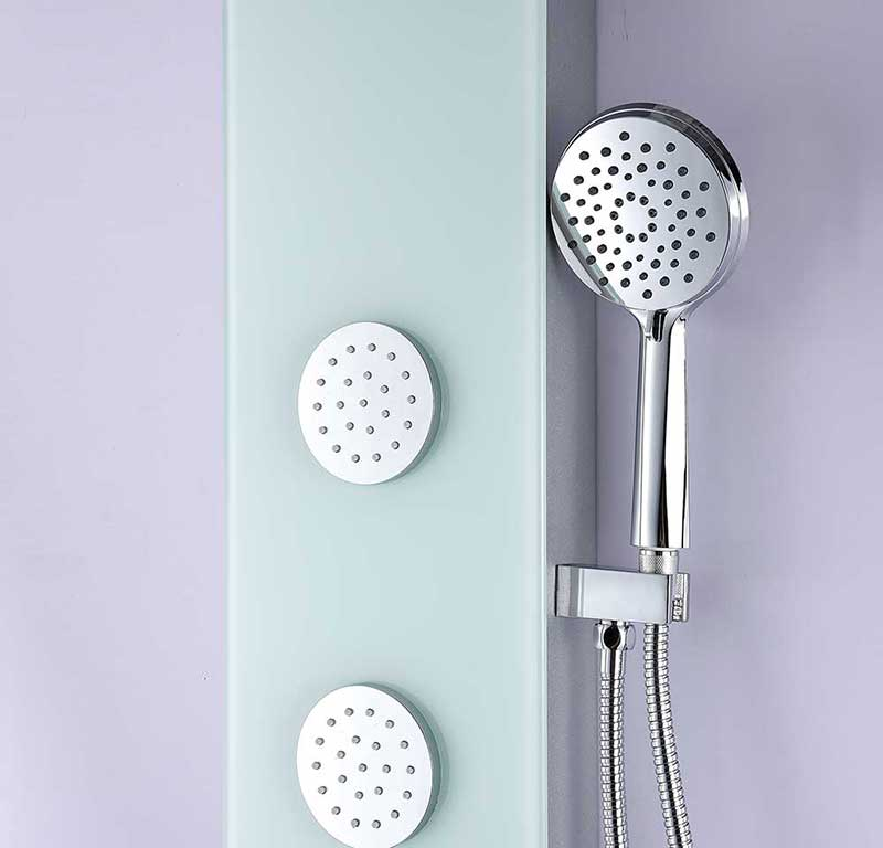 Anzzi MARE Series 60 in. Full Body Shower Panel System with Heavy Rain Shower and Spray Wand in White 5