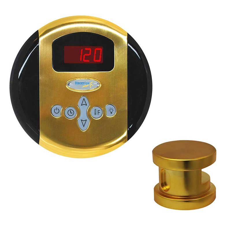 SteamSpa Oasis Control Kit in Polished Gold