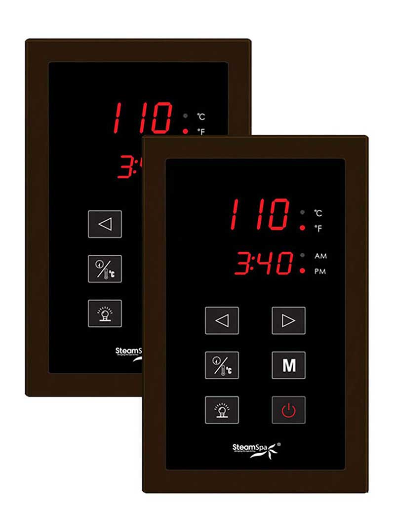 SteamSpa Royal 7.5 KW QuickStart Acu-Steam Bath Generator Package with Built-in Auto Drain in Oil Rubbed Bronze 4