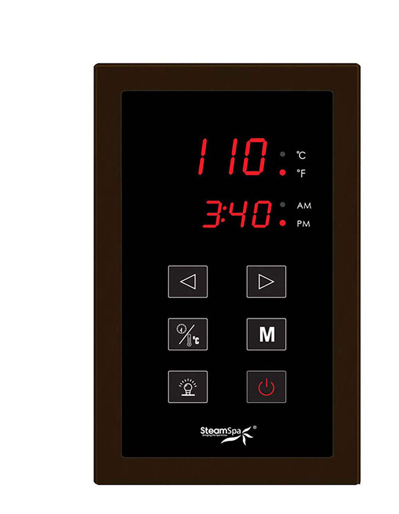 SteamSpa Indulgence 10.5 KW QuickStart Acu-Steam Bath Generator Package in Oil Rubbed Bronze 3