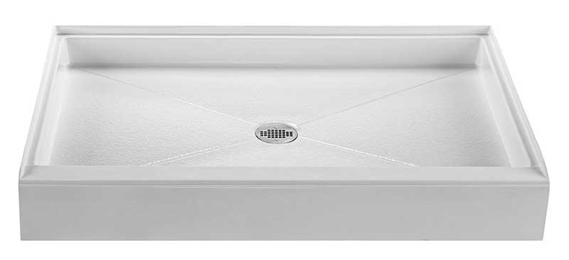 Reliance 48x36 Shower Base with Center Drain-Biscuit (R4836CD-B)