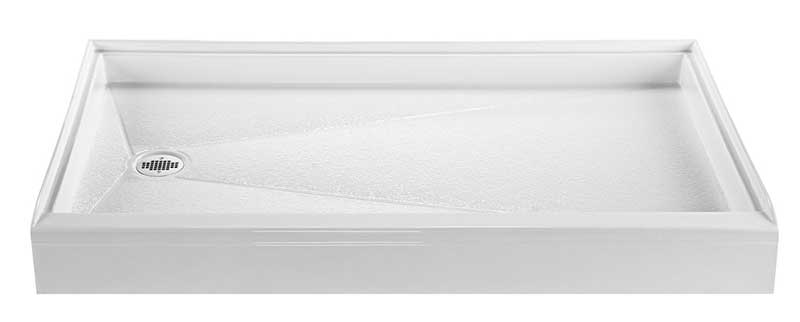 Reliance 60x36 Shower Base with Left Hand Drain-White (R6036ED-LH-W)