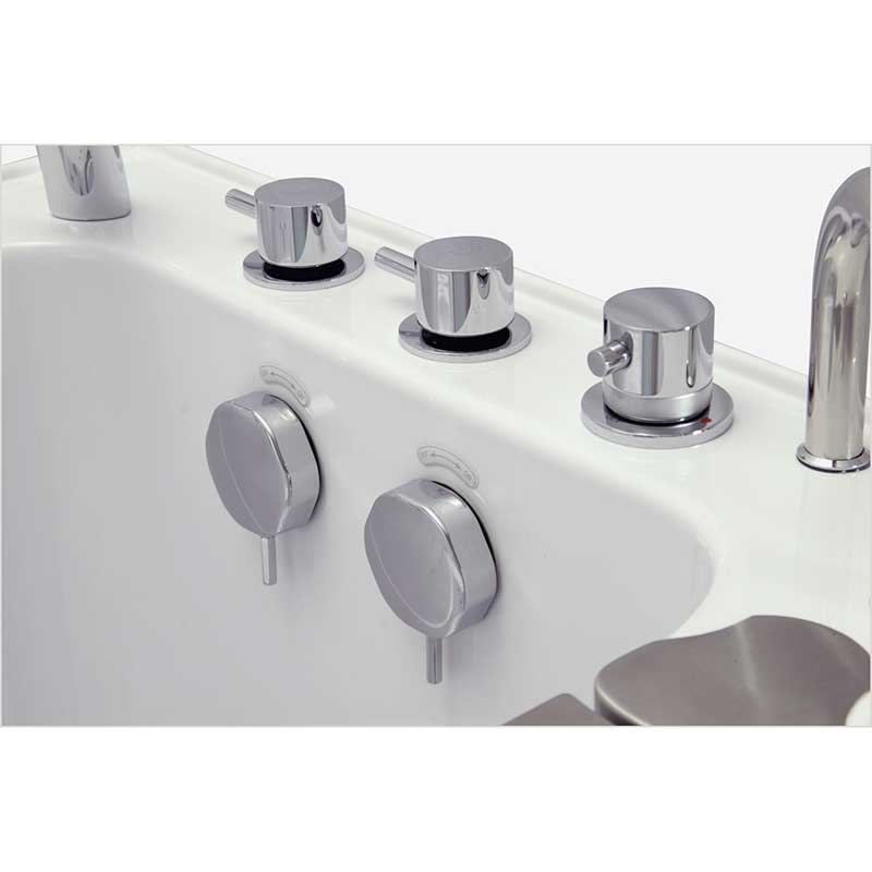 Ella's Bubbles 9305 Deluxe Acrylic Dual Massage Walk-In Tub 3
