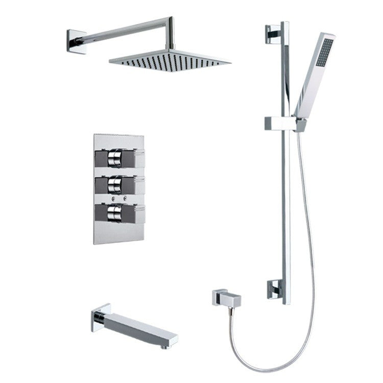 Roman Soler by Nameeks Kuatro Rectangle Shower Set
