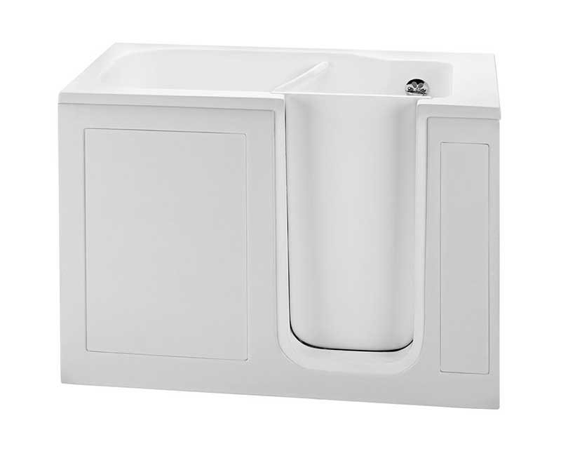 Reliance Walk-In Whirlpool Bath-With Radiance-No Valves -White  51.5 x 30.25 x 37.5 (RWI5030RNVW-W)