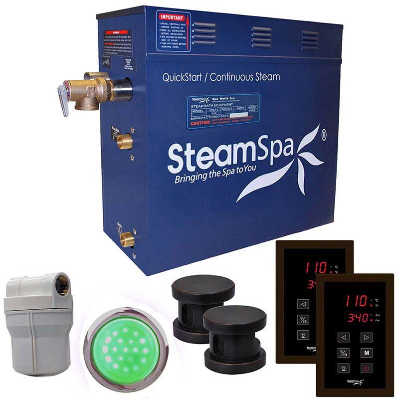 SteamSpa Royal 10.5 KW QuickStart Acu-Steam Bath Generator Package in Oil Rubbed Bronze