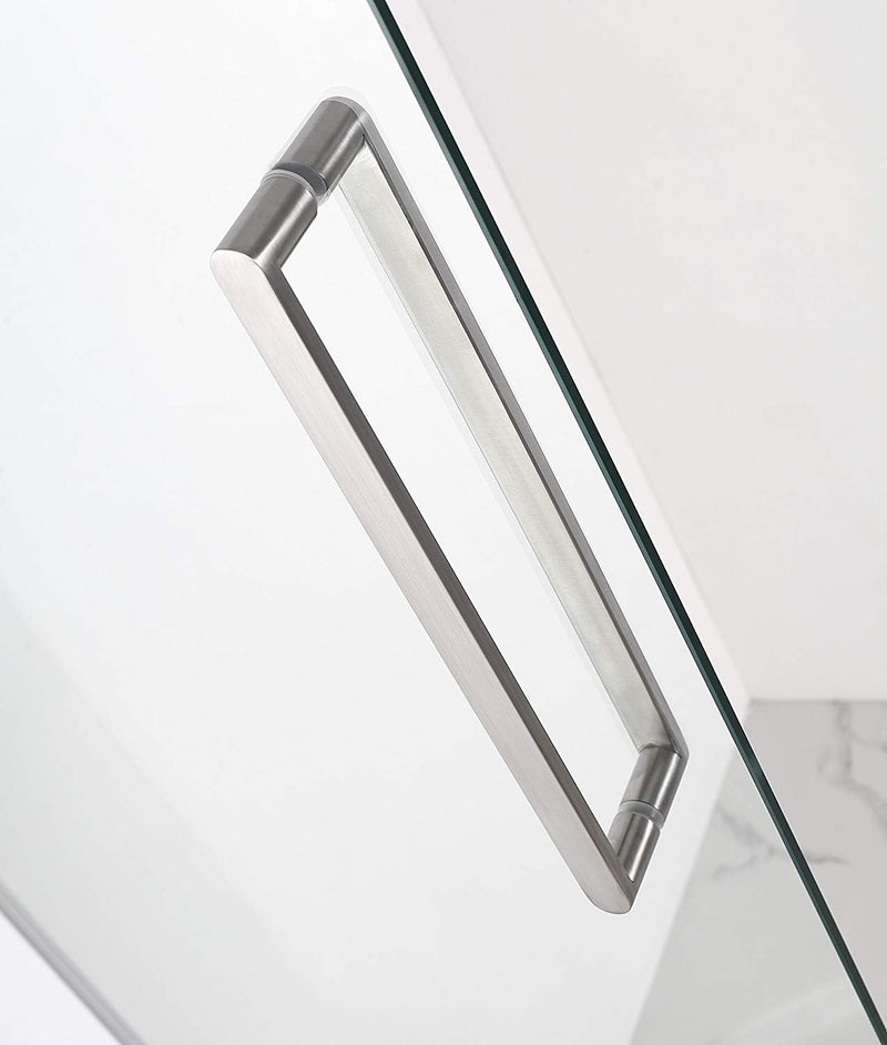 Aston Madox 42 in. to 48 in. x 74.875 in. Frameless Pivot Shower Door in Stainless Steel 3